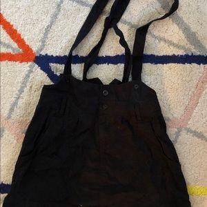 Suspender mini skirt